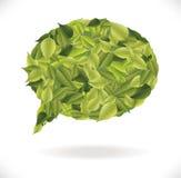 Diálogo de las hojas Foto de archivo