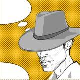 Diálogo del arte pop del vaquero Fotos de archivo