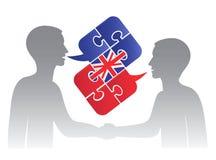 Diálogo do inglês de negócio Fotografia de Stock Royalty Free