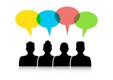 Diálogo entre diversa gente stock de ilustración