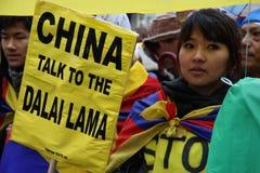 Diálogo para um Tibet livre Fotos de Stock Royalty Free