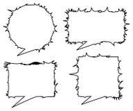 Diálogos da conversa de Emo Fotografia de Stock
