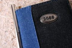 Diário 2008 imagem de stock royalty free