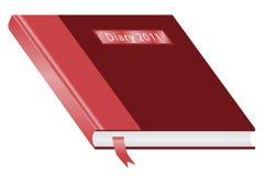 Diário 2011 Borgonha e vermelho Fotografia de Stock Royalty Free