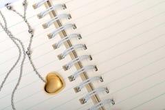 Diário do amor Imagem de Stock