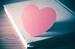 Diário do amor fotografia de stock