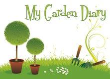 Diário do jardim Fotos de Stock Royalty Free
