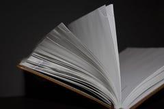 diário marrom Metade-aberto foto de stock