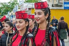 Diáspora armênia dos dançarinos em Ucrânia foto de stock royalty free