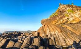 Diâmetro de Ganh a Dinamarca da arquitetura da pedra da calçada de Giants Imagens de Stock