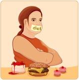 Diät stock abbildung