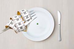 Diät auf einer Platte Stockfoto
