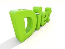 Diät des Wortes 3d Stockfoto