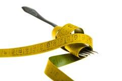 Diät - essen Sie weniger Konzept stockbild