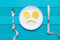 Diät, gesundes Lebensmittel und Gewichtsverlust Lizenzfreies Stockbild