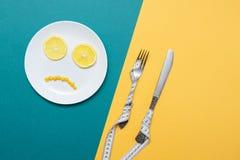 Diät, gesundes Lebensmittel und Gewichtsverlust Stockbild