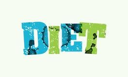Diät-Konzept gestempeltes Wort Art Illustration vektor abbildung