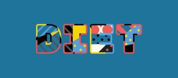 Diät-Konzept-Wort Art Illustration vektor abbildung