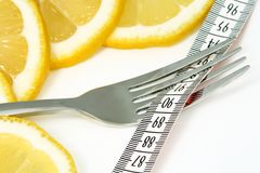 Diät mit gesunder Nahrung Lizenzfreies Stockfoto