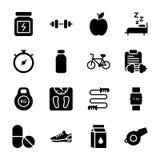 Diät-Plan, Sport ergänzen, Nahrungs-Ikonen verpacken vektor abbildung