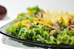Diät-Salat mit essbaren Meerestieren Stockfoto