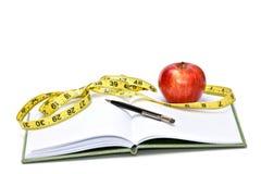 Diät-Tagebuch Stockbild