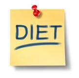 Diät und gesundes Essensymbol Lizenzfreies Stockfoto