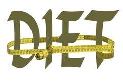 Diät, Wort und ein Band stock abbildung