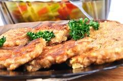 Diäthafer-Flockenpfannkuchen Stockfoto