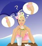 Diätmädchen, das Hamburger isst Stockbilder