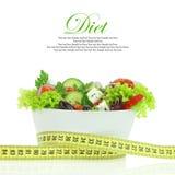 Nähren Sie Mahlzeit. Gemüsesalat in einer Schüssel Stockfotografie