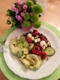 Diätmahlzeit und -flower power Stockfoto