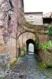 Di Ιταλία civita bagnoregio αλεών στοκ φωτογραφίες