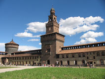 Di Μιλάνο castello Στοκ φωτογραφία με δικαίωμα ελεύθερης χρήσης