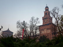Di Μιλάνο Sforzesco Castello Στοκ εικόνες με δικαίωμα ελεύθερης χρήσης