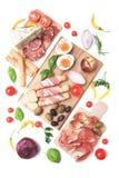 Di Πάρμα Prosciutto και άλλα ιταλικά τρόφιμα Στοκ εικόνες με δικαίωμα ελεύθερης χρήσης