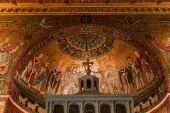 Di Σάντα Μαρία βασιλικών σε Trastevere, Ρώμη, Ιταλία Στοκ εικόνες με δικαίωμα ελεύθερης χρήσης