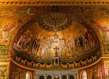 Di Σάντα Μαρία βασιλικών σε Trastevere, Ρώμη, Ιταλία Στοκ Εικόνες