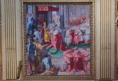 Di Σάντα Μαρία βασιλικών σε Trastevere, Ρώμη, Ιταλία Στοκ Εικόνα