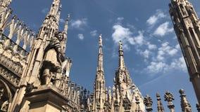 Di Милан Duomo, собор милана церковь собора милана в Ломбардии, северной Италии акции видеоматериалы