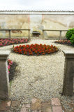 Di Павия Certosa, внутренняя деталь мать 2 изображения дочей цвета стоковые фото