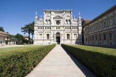 Di Павия Certosa. Итальянский монастырь стоковые фотографии rf