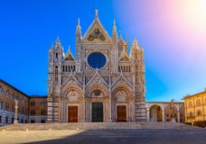 Di Сиена Duomo Santa Maria Assunta собора Сиены в Сиене стоковое изображение