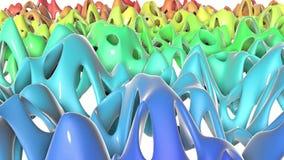 Di aereo regolare colorato multi Openwork deforme lentamente rappresentazione 3d illustrazione di stock