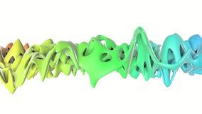 Di aereo regolare colorato multi Openwork deforme lentamente rappresentazione 3d illustrazione vettoriale