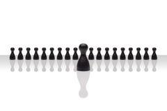 Di affari di concetto del capo di passo avanti pendenza nera del gruppo piccola Immagine Stock