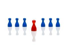 Di affari di concetto di direzione di passo avanti blu rosso Fotografia Stock Libera da Diritti