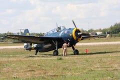 `Di Airshow 100 anni di `russo dell'aeronautica. Fotografia Stock Libera da Diritti