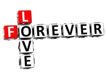 di amore 3D parole incrociate per sempre Immagine Stock Libera da Diritti