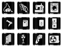 Di applicances icone domestiche semplicemente Fotografia Stock